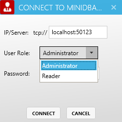 Connect to miniDBA Server
