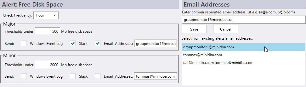 email alert configuration