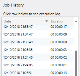 SQL Server index job history