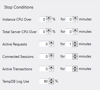 SQL Server index maintenance job stop conditions
