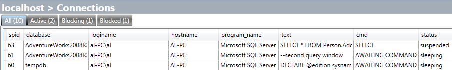 SQL Server connections