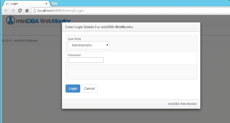 Web Monitor Login